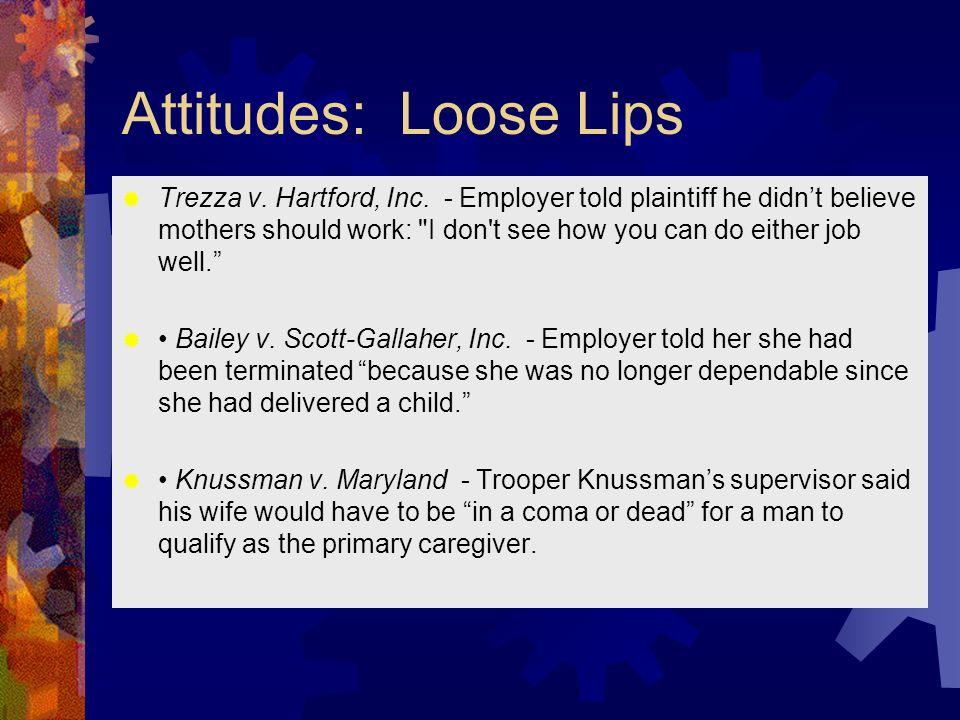 Attitudes: Loose Lips Trezza v. Hartford, Inc.