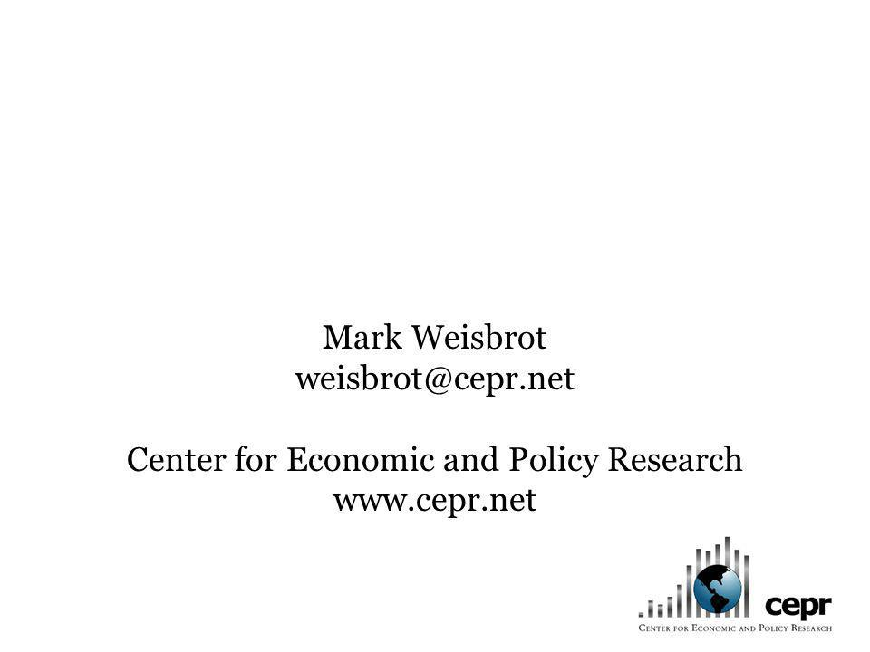 Mark Weisbrot weisbrot@cepr.net Center for Economic and Policy Research www.cepr.net