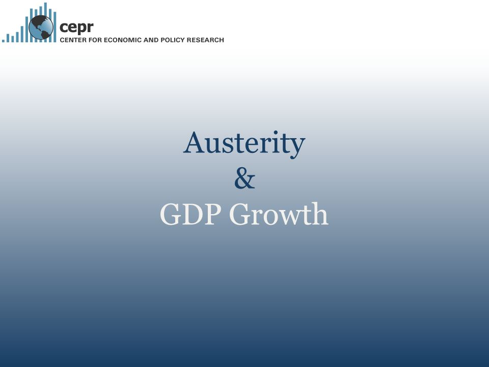 Austerity & GDP Growth