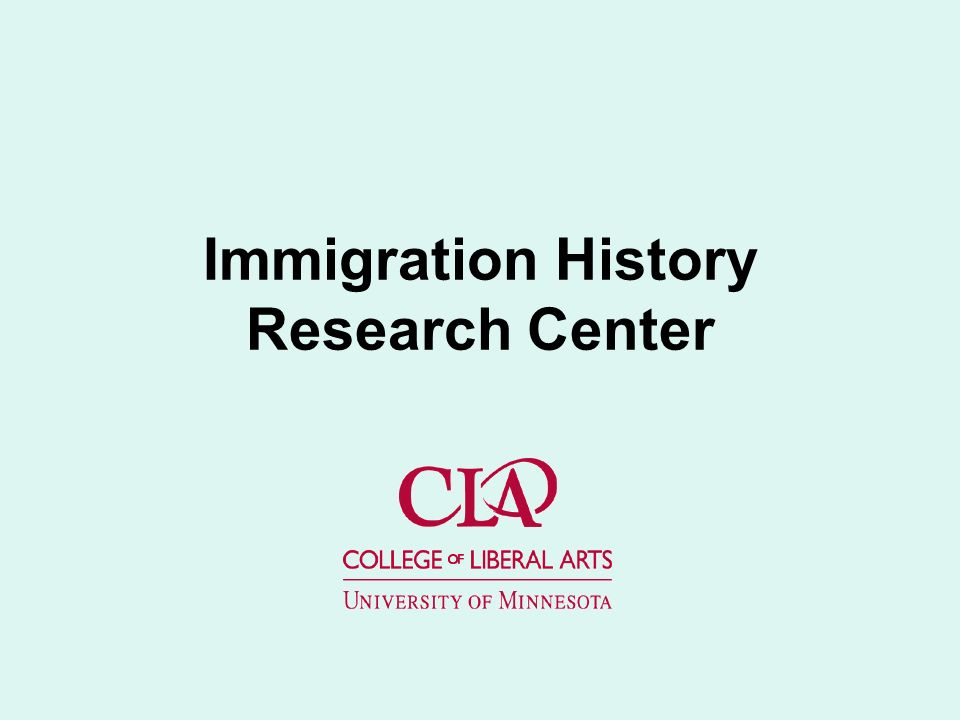 Immigration History Research Center