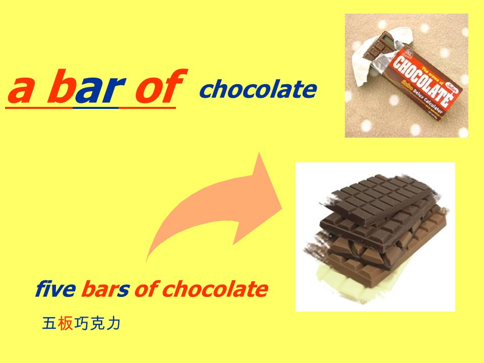 chocolate a bar of /כ/ /ə / /i/