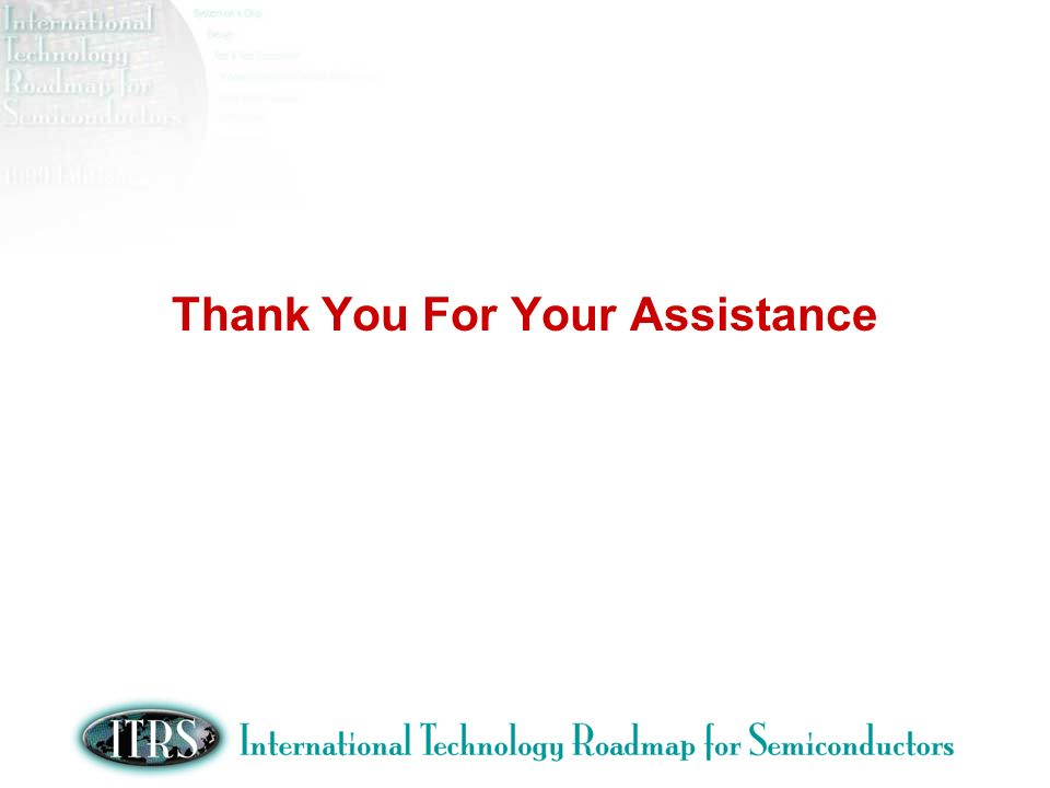 Thank You For Your Assistance