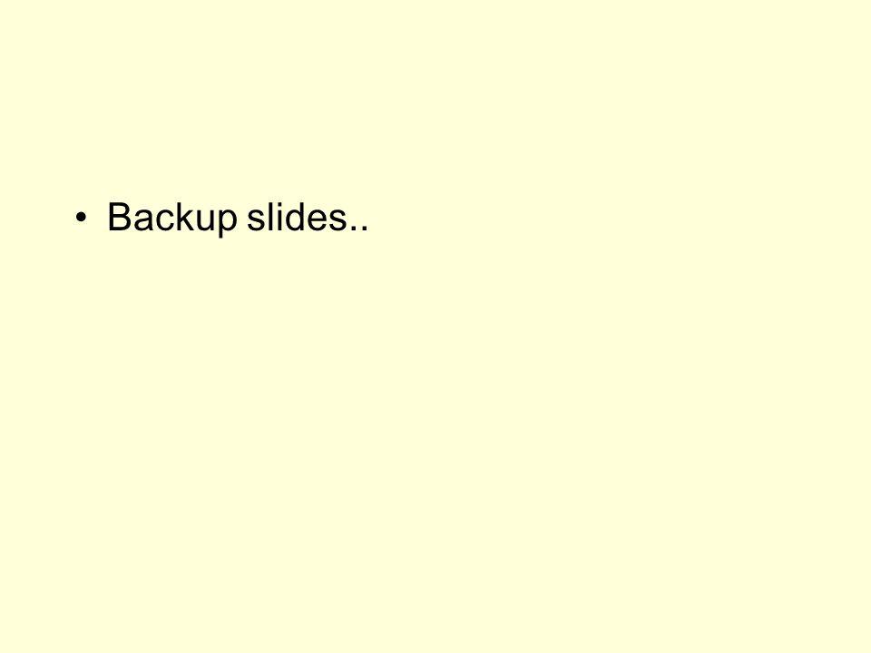 Backup slides..