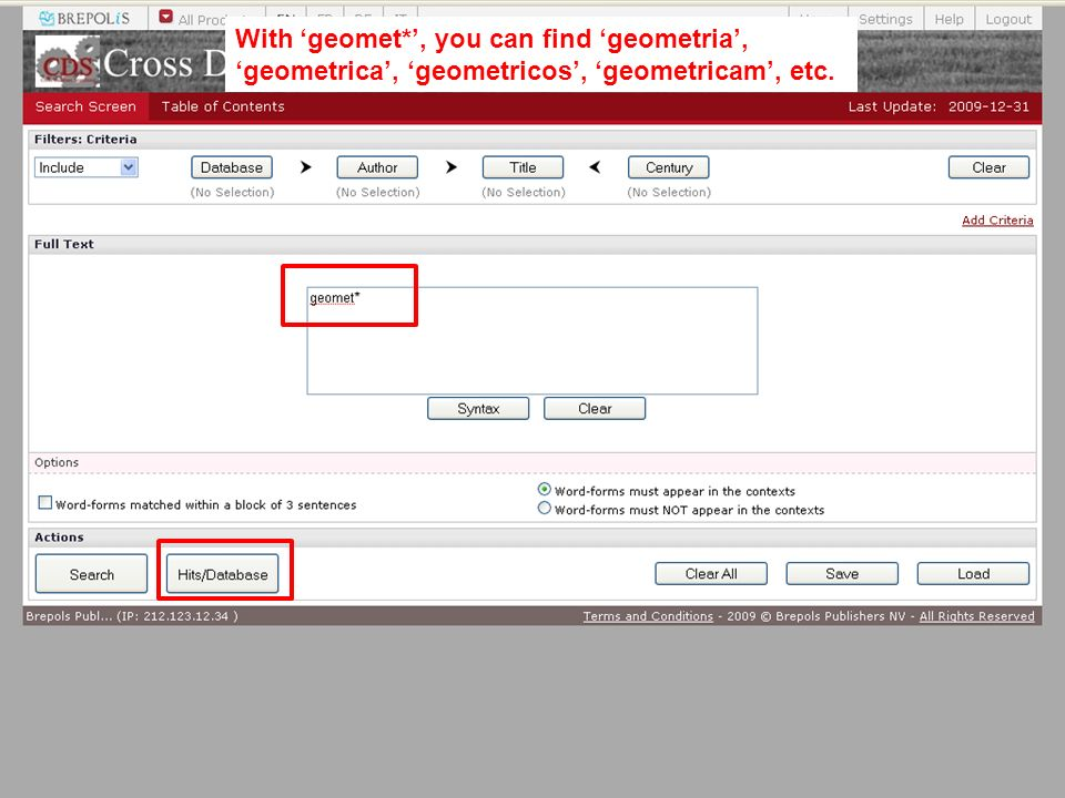 With geomet*, you can find geometria, geometrica, geometricos, geometricam, etc.