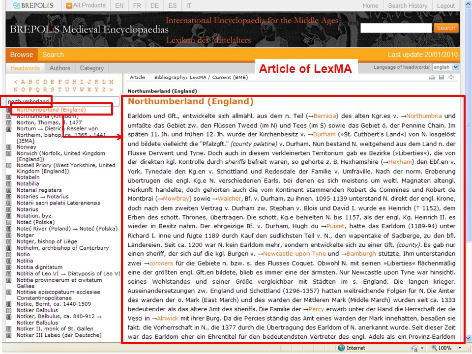 Article of LexMA