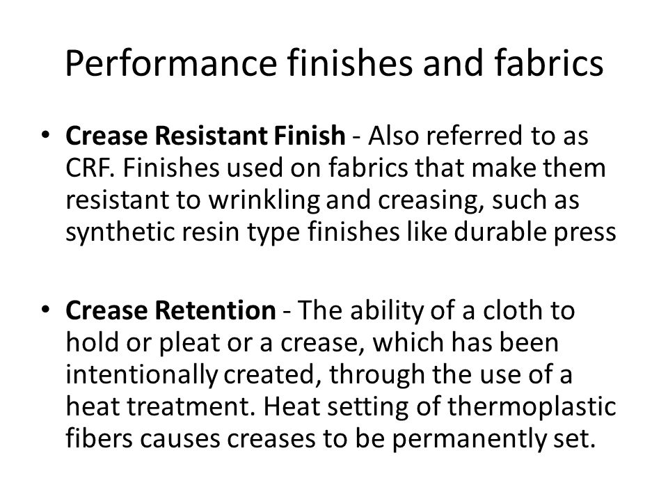 Texture finishes Seersucker - A woven fabric which incorporates modification of tension control.
