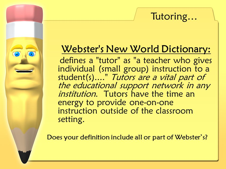 Does your definition include all or part of Websters.