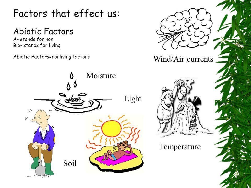 2. Biotic Factors: Biotic- Living factors