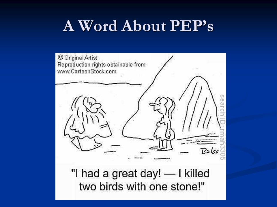A Word About PEPs