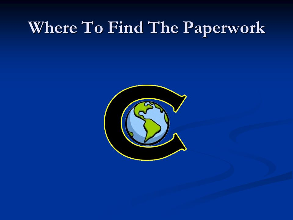 Where To Find The Paperwork