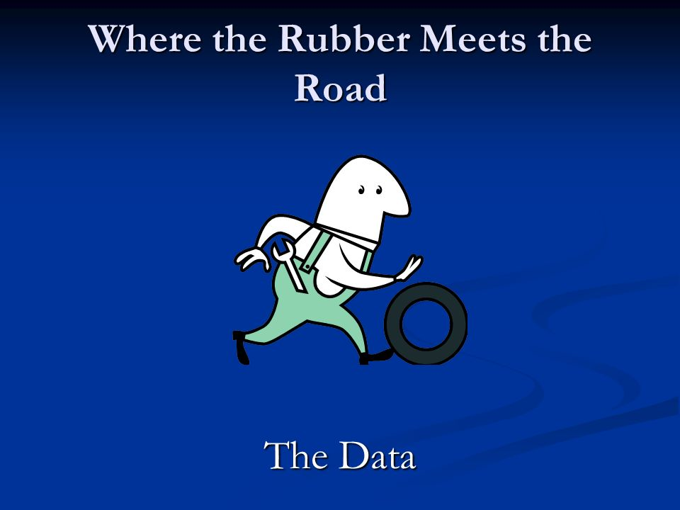 Where the Rubber Meets the Road The Data