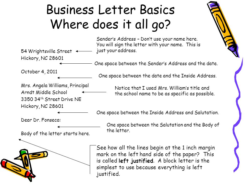 writing business letter People write business letters and emails for a variety of reasons--to request information, to conduct transactions, to secure employment, and so on effective business correspondence should be clear and concise, respectful in tone, and formatted properly.