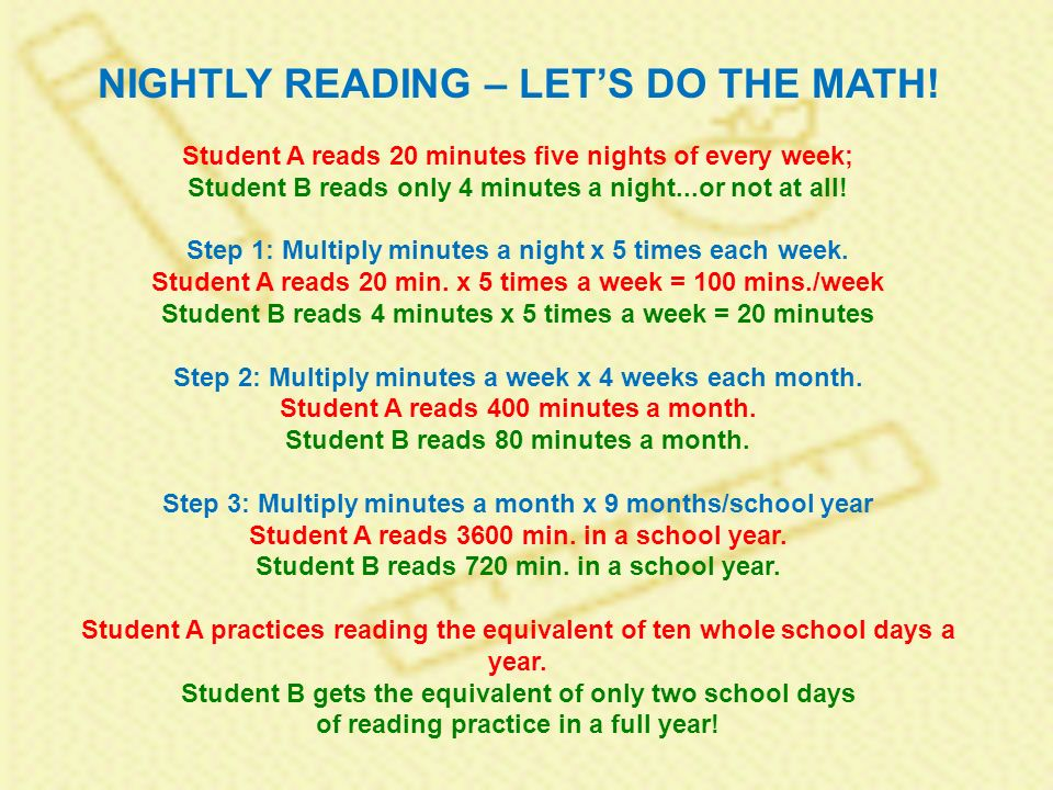 NIGHTLY READING – LETS DO THE MATH.