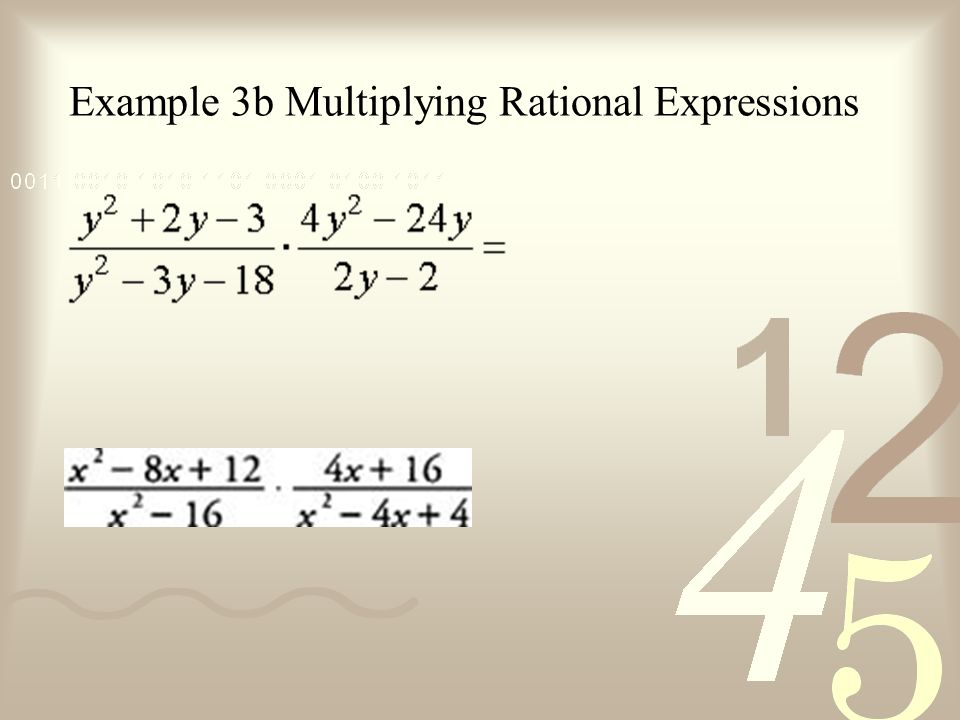 Example 3b Multiplying Rational Expressions