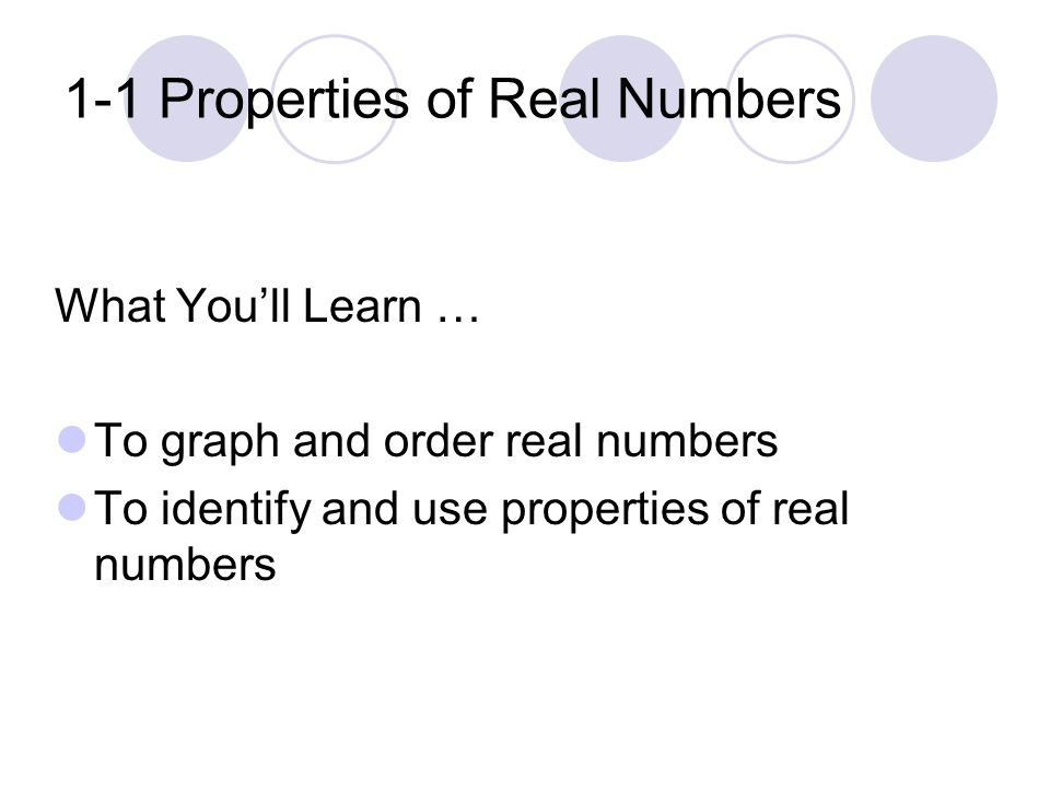In Chapter 1, You Will… Review and extend your knowledge of algebraic expressions and your skills in solving equations and inequalities.
