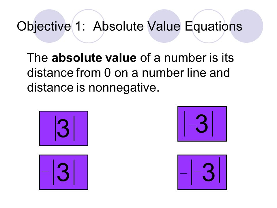 1-5 Absolute Value Equations and Inequalities 2.08 Use equations and inequalities with absolute value to model and solve problems; justify results.