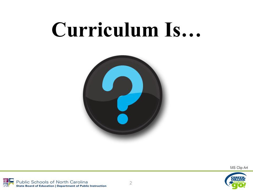 Curriculum Is… 2 MS Clip Art