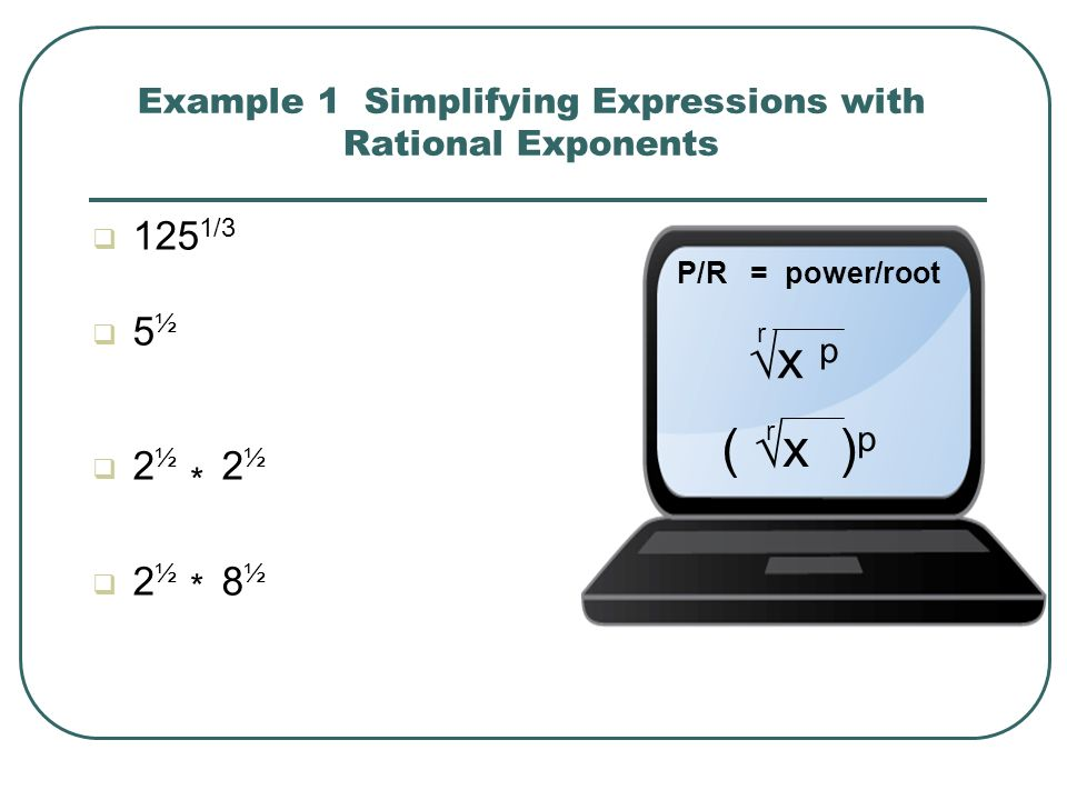 A rational exponent may have a numerator other than 1.