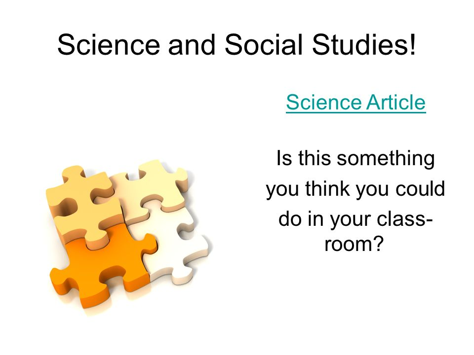 Science and Social Studies.