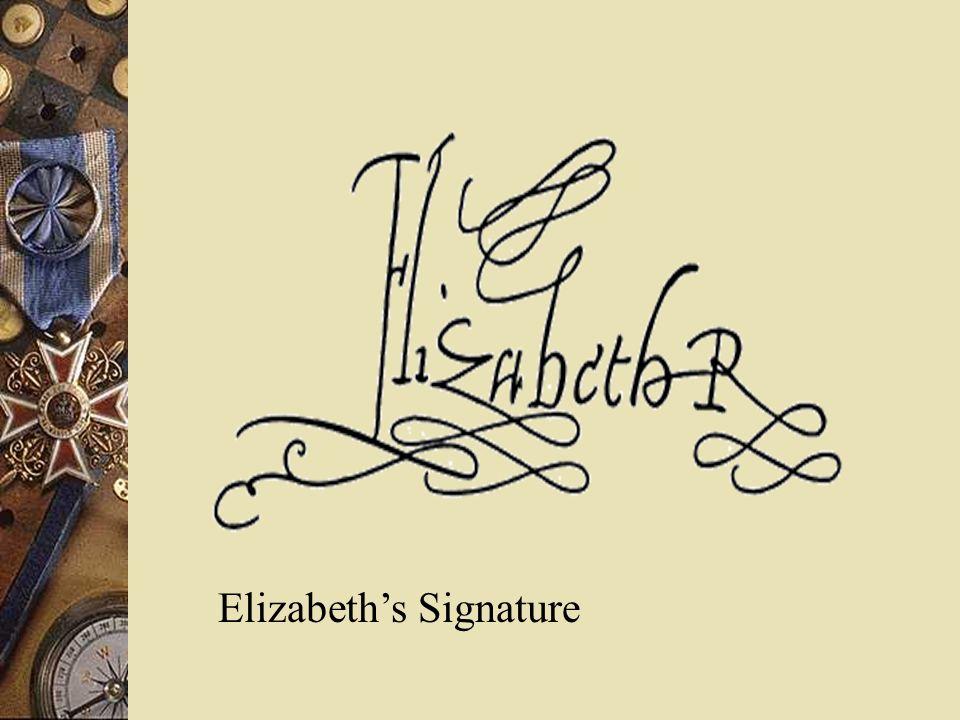 Elizabeths Signature