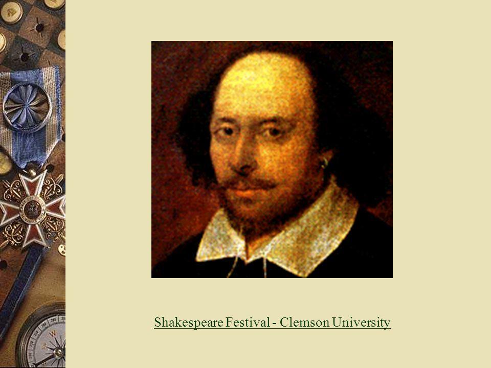Shakespeare Festival - Clemson University