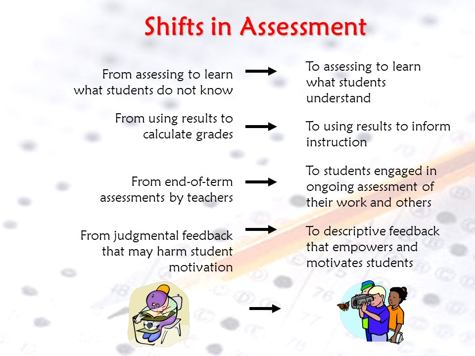 Balancing Assessments for Students Formative Not usually grade accountable Student involvement Part of instruction Forms direction of daily instructio
