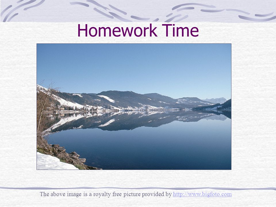 Homework Time The above image is a royalty free picture provided by http://www.bigfoto.comhttp://www.bigfoto.com