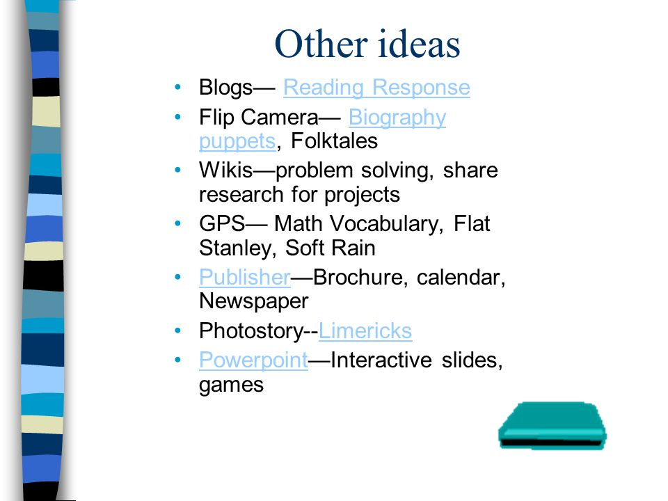 Other ideas Blogs Reading ResponseReading Response Flip Camera Biography puppets, FolktalesBiography puppets Wikisproblem solving, share research for