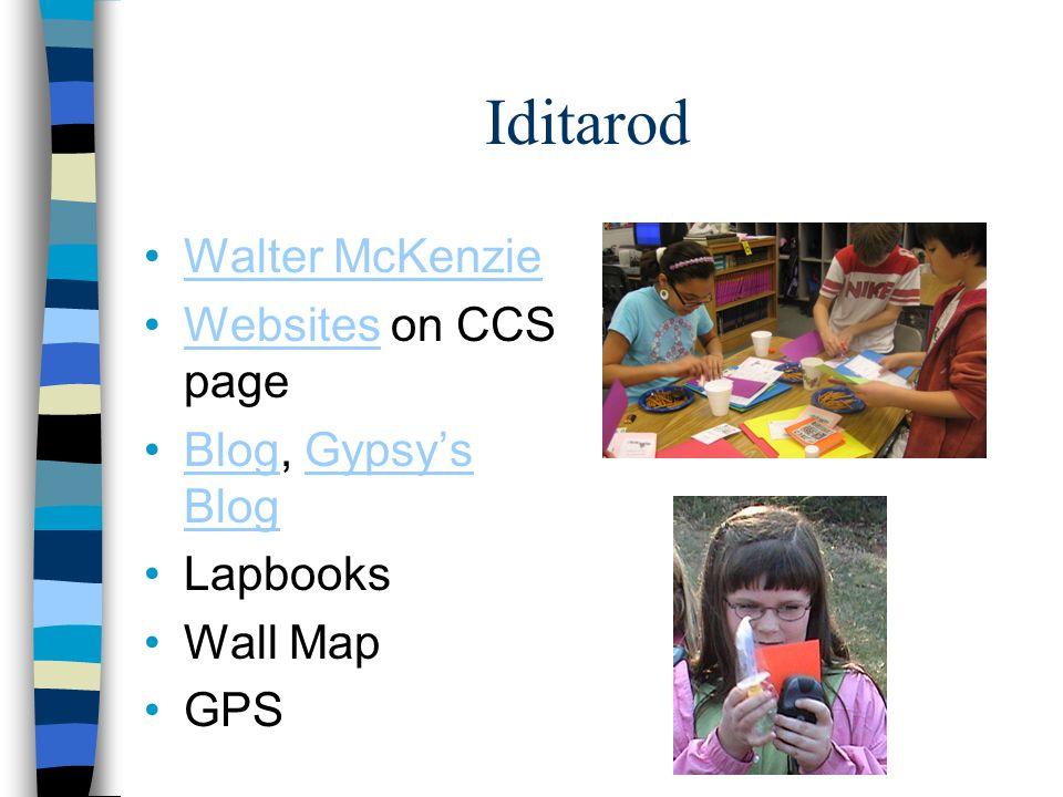 Iditarod Walter McKenzie Websites on CCS pageWebsites Blog, Gypsys BlogBlogGypsys Blog Lapbooks Wall Map GPS