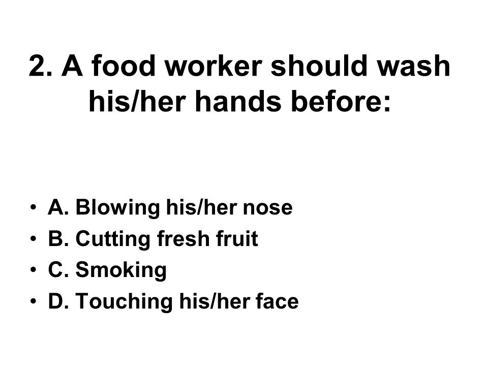 3.Which is the proper work attire for a food worker.
