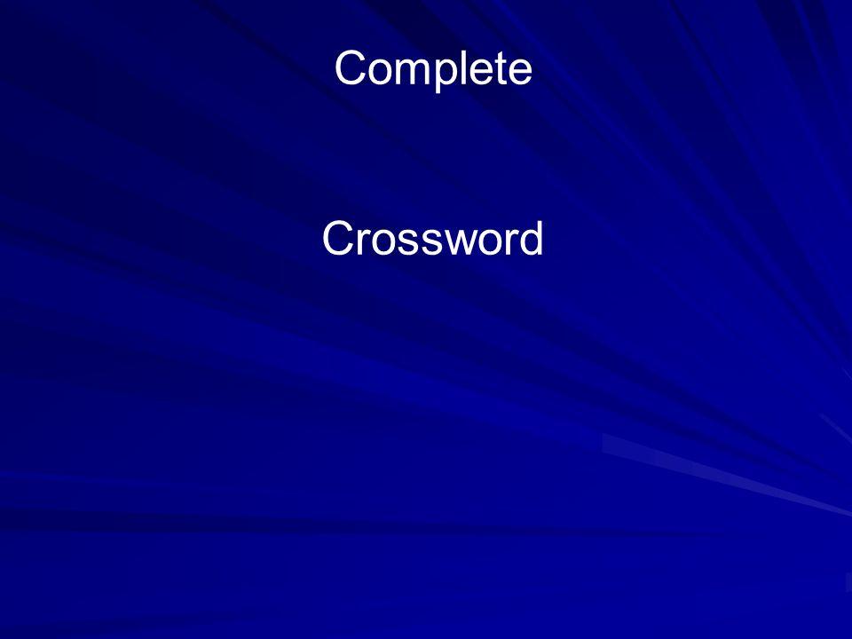 Complete Crossword