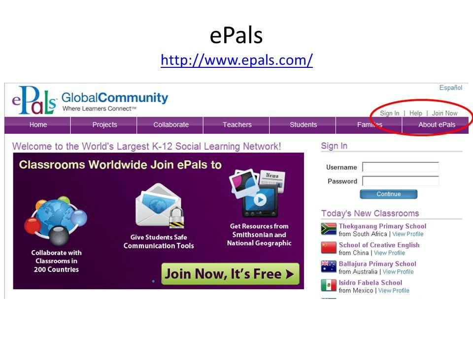ePals http://www.epals.com/ http://www.epals.com/