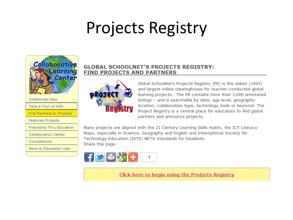 Projects Registry