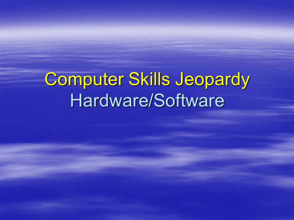 Hardware Application Programs 10 20 Parts of a Computer 30 20 10 50 Memory 50 40 30 20 10 20 30 40 50 40 30 40 30 20 10 Miscellaneous Software Programs 50