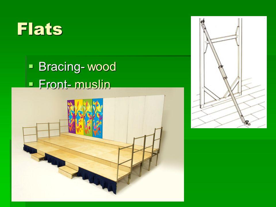 Flats Bracing- wood Bracing- wood Front- muslin Front- muslin