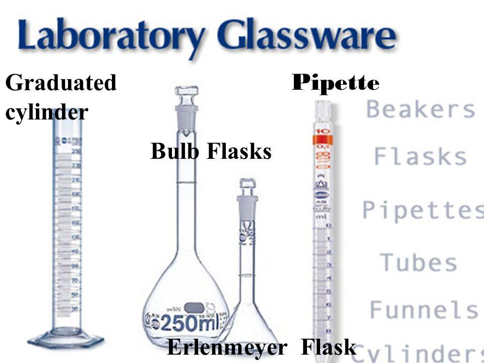 Graduated cylinder Bulb Flasks Erlenmeyer Flask Pipette