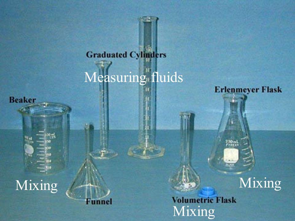 Mixing Measuring fluids