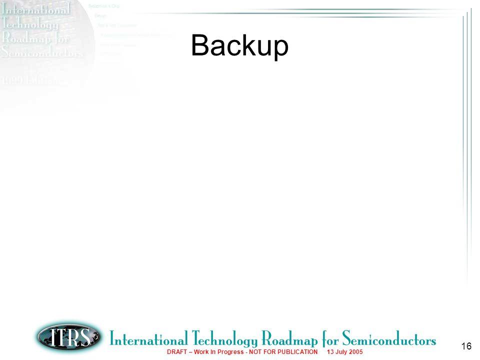 16 Backup