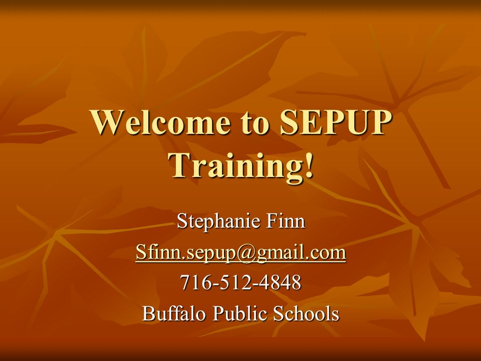 Welcome to SEPUP Training! Stephanie Finn Sfinn.sepup@gmail.com 716-512-4848 Buffalo Public Schools