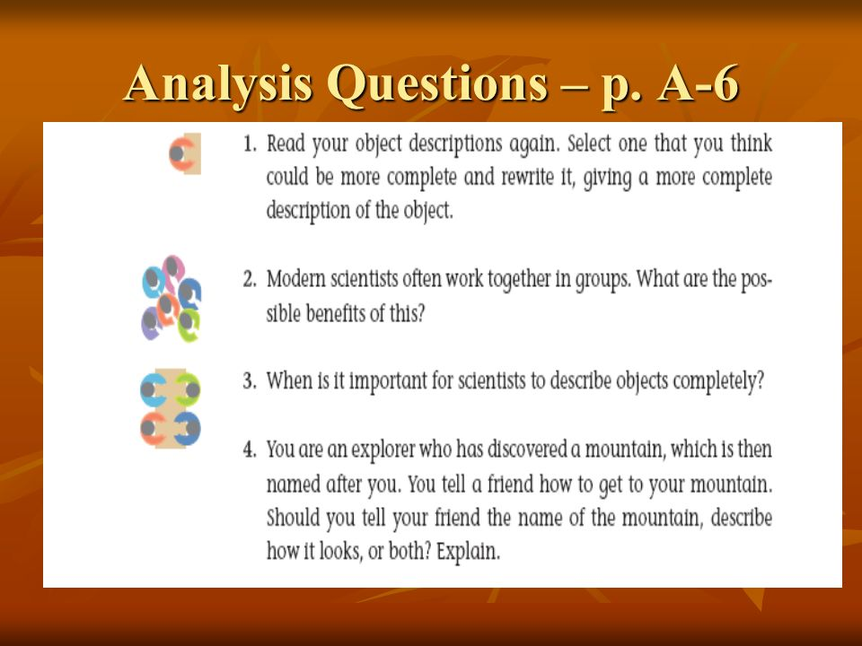 Analysis Questions – p. A-6