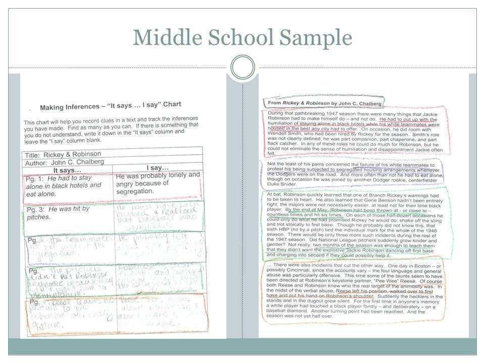 Middle School Sample
