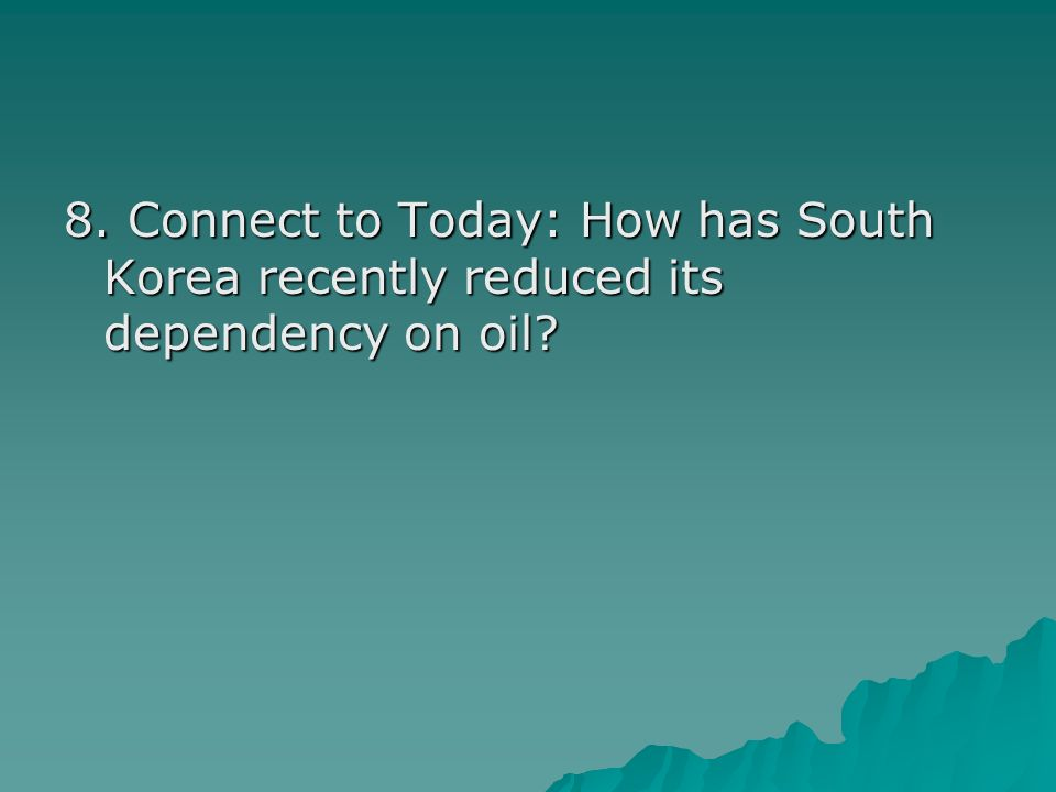 Answer: By building many new nuclear power plants, South Korea will not have to rely as much on petroleum-burning plants.