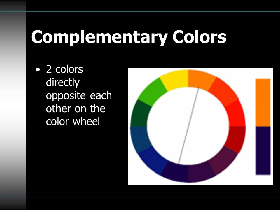 Complementary Color Scheme Combining two colors that are direct opposites on the color wheel.