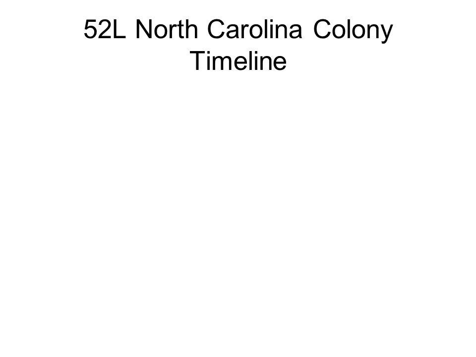52L North Carolina Colony Timeline