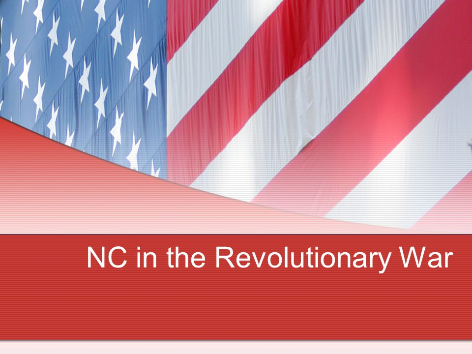 NC in the Revolutionary War