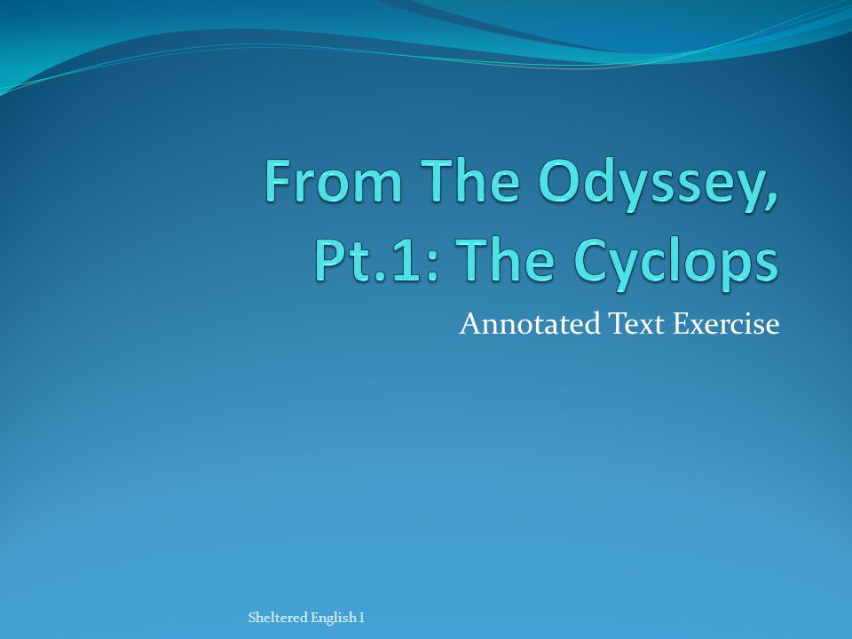 analytical essay odyssey Free essays on the odyssey available at echeatcom, the largest free essay community.