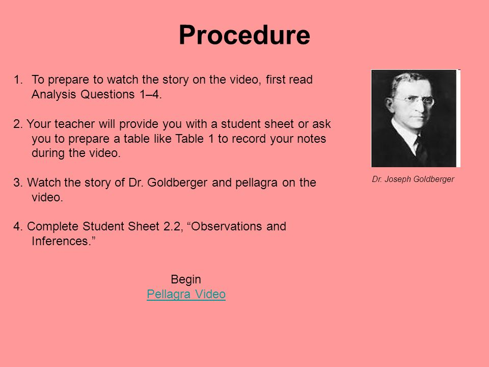 Procedure 1.To prepare to watch the story on the video, first read Analysis Questions 1–4. 2. Your teacher will provide you with a student sheet or as