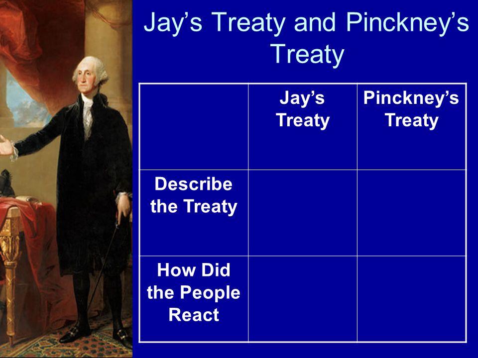 Jays Treaty and Pinckneys Treaty Jays Treaty Pinckneys Treaty Describe the Treaty How Did the People React