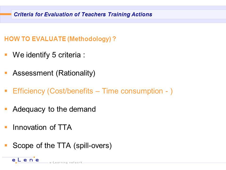 METHODOLOGY For Teachers Training Actions Before TTA After TTA Questionnaire 1 Teachers Questionnaire 2 Teachers Questionnaire 3 Teachers Questionnaire 1 Trainer After TTA (6 months) TTA