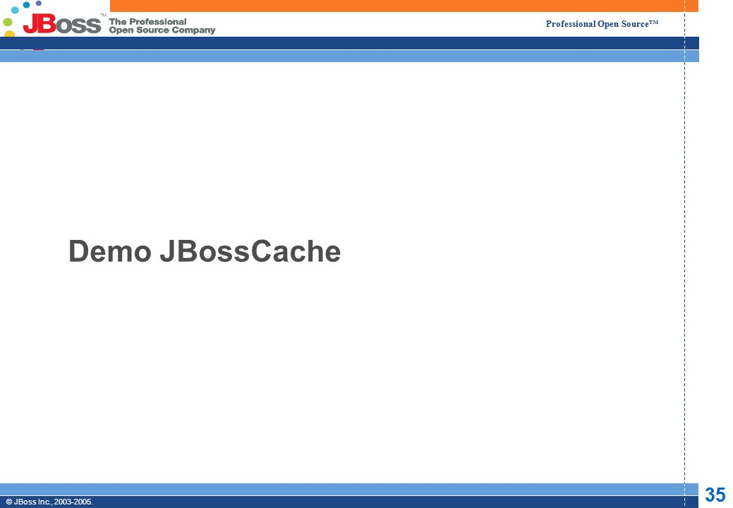 Professional Open Source © JBoss, Inc. 2003-2005. 35 2/6/2014 Professional Open Source © JBoss Inc., 2003-2005. 35 Demo JBossCache